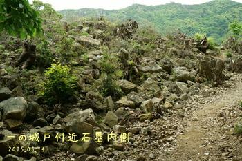 DSC06136一の城戸付近の石塁.JPG